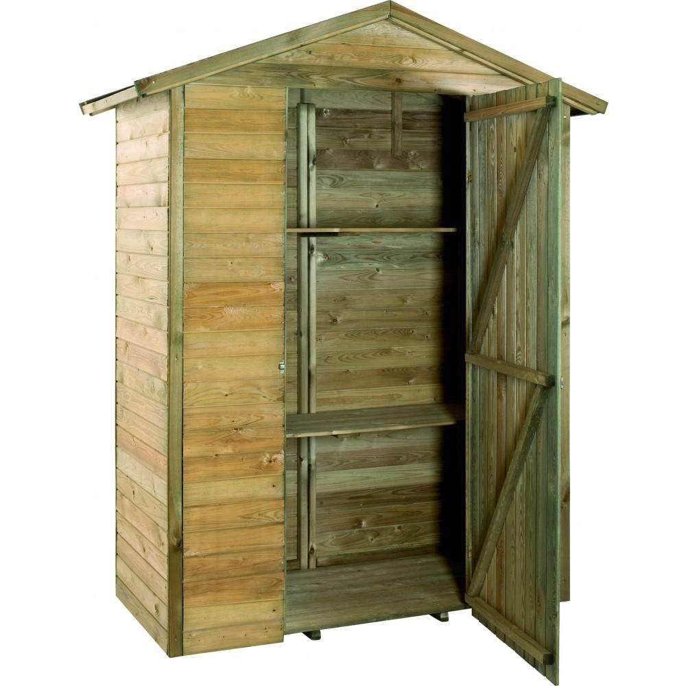 Armoire de jardin en bois - 175 x 83 cm - hauteur 215 cm - Merina  JARDIPOLYS sur Bricozor