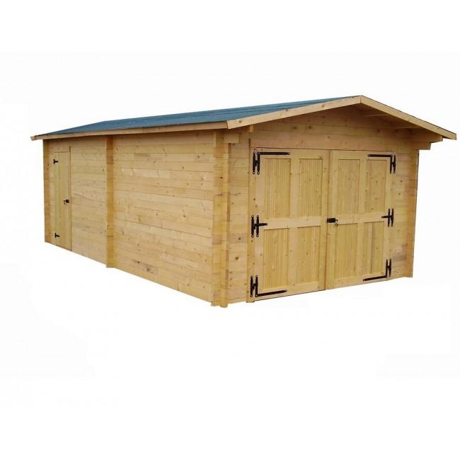 Garage en bois - surface 19,03 m2 - Vectura 3562 HABRITA