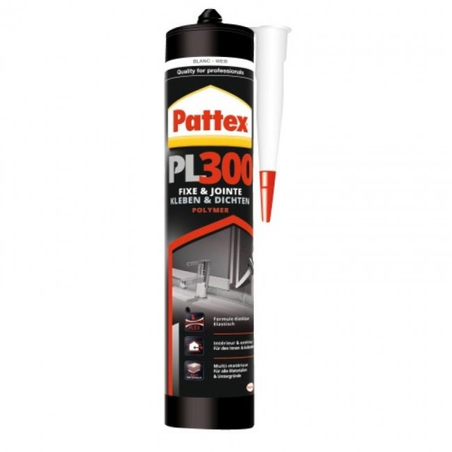 Mastic-colle MS polymère - tous matériaux - cartouche 392 g - PL300 PATTEX