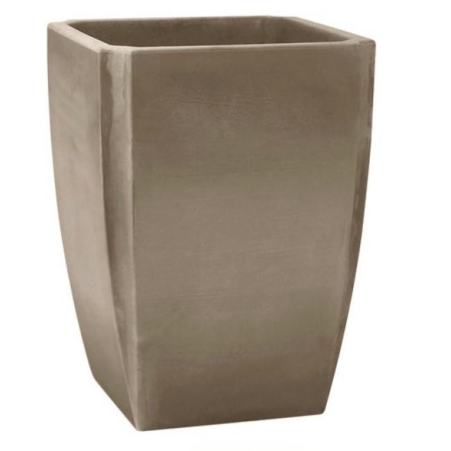 Bac à fleurs carré haut  taupe - 65 litres - Palmea 13909 EDA PLASTIQUES