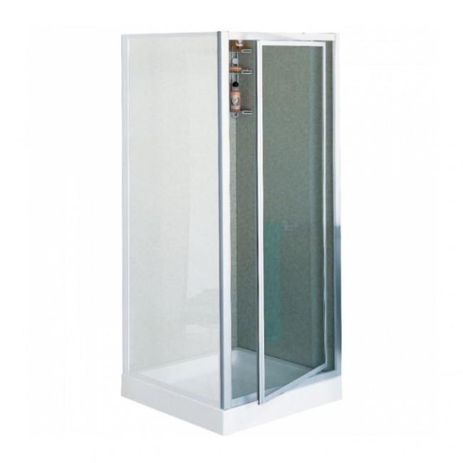 Porte douche pivotante verre granité Riviera G - 88 à 92 cm NOVELLINI