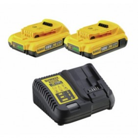 Pack chargeur + 2 batteries 18 V-2 Ah XR lithium-ion DEWALT