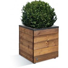 Bac à fleurs en bois - 63 litres - 45 x 45 cm - hauteur 47 cm - Selekt JARDIPOLYS