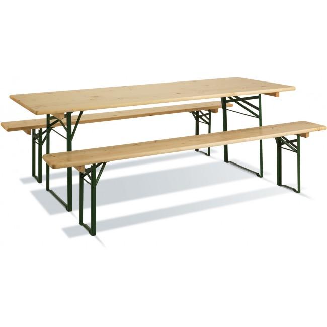 Table pique nique avec banc - longueur 220 cm - Brasseur JARDIPOLYS