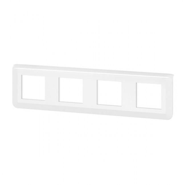 Plaque de finition horizontale Mosaic blanche - 4X2 modules LEGRAND
