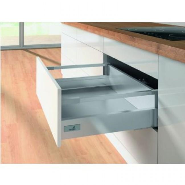 Kit tiroir tringles InnoTech Atira-H144mm-Silent System 30 kg-argent HETTICH