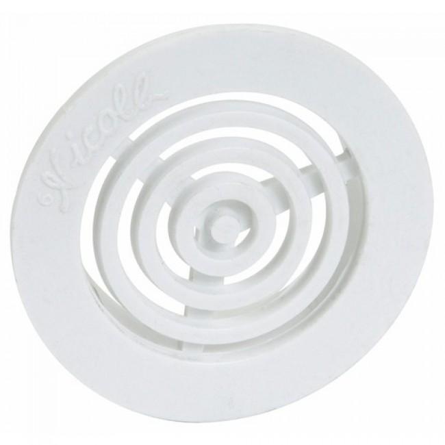 Grille d'aération B43 contre cloisons pour tube de 35mm, avec moustiquaire NICOLL