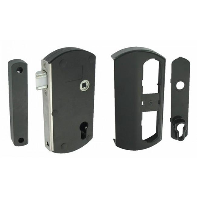 Serrure pour portail bois/PVC/alu - à pêne demi-tour - Modulox TIRARD