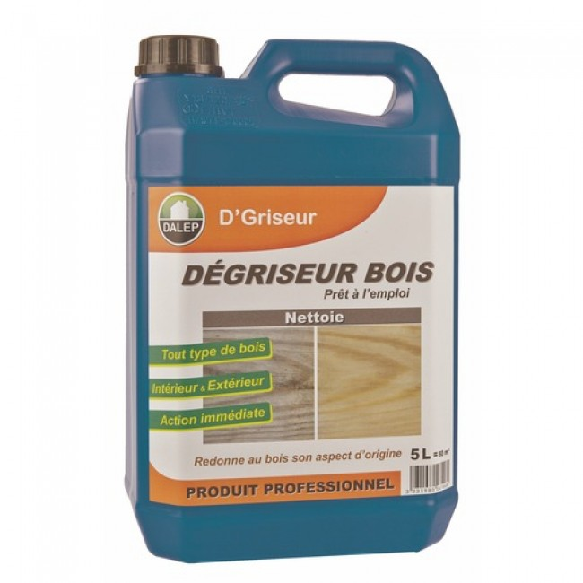 Dégriseur bois et nettoyant universel - 5 litres - D'griseur DALEP