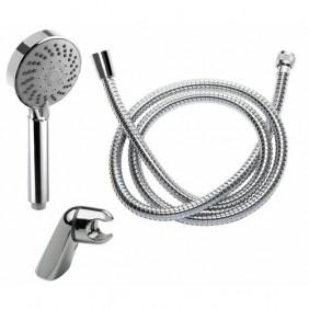Set de douche avec pommeau anticalcaire 5 jets - Thor DISFLEX