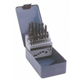 Coffret de 25 forets laminés G25 pour perçage des aciers, 1 à 13 mm TIVOLY