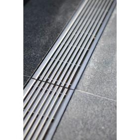 Caniveau Self 100 - avec grilles inox - sans pentes  - 1000mm ACO PASSAVANT