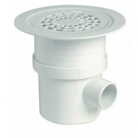 Siphon de sol pvc Docia Système - grille pvc blanche - diamètre 192 mm NICOLL