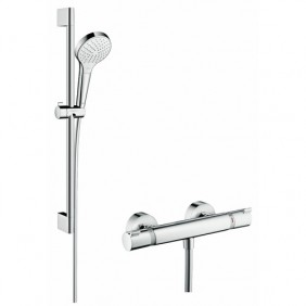 Barre de douche - mitigeur thermostatique - Combi Croma Select S HANSGROHE