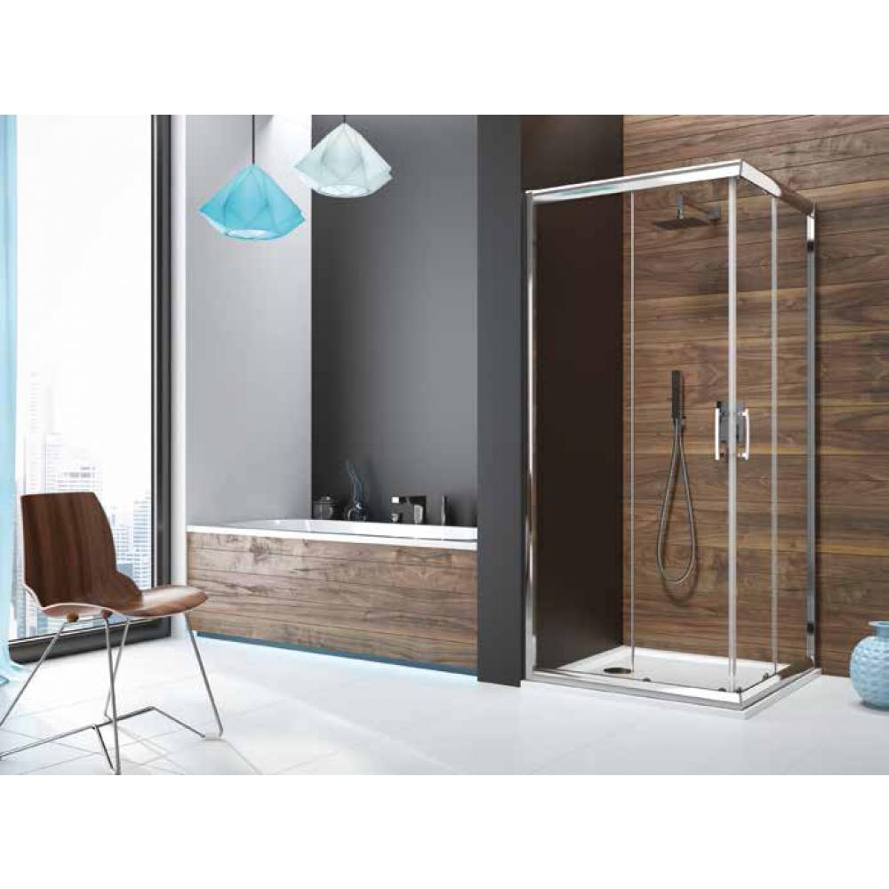 Leda paroi douche stunning paroi douche ouverte prface walk in cm vitrage transparent profils - Carreau transparent salle de bain ...