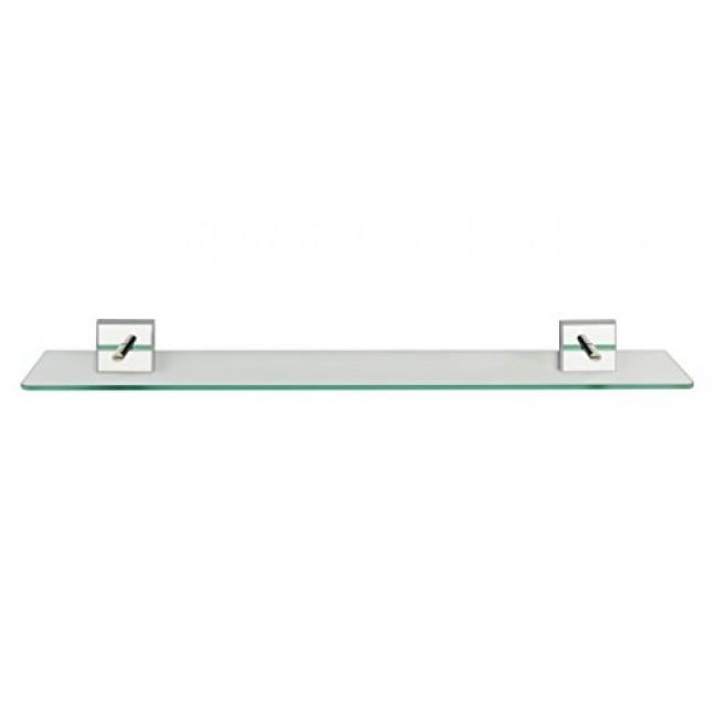 Tablette murale - Laceno - Verre - support acier - Fixation Power-Loc WENKO