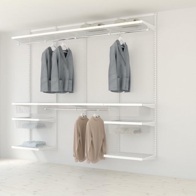 Kit dressing Décor - L240xP40- blanc/bois blanc ELFA
