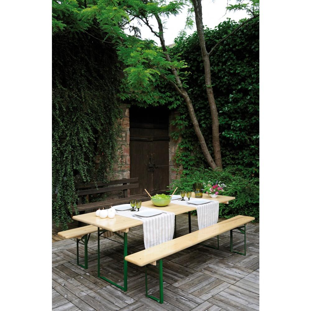 Table pique nique avec banc - longueur 220 cm - Brasseur JARDIPOLYS sur  Bricozor