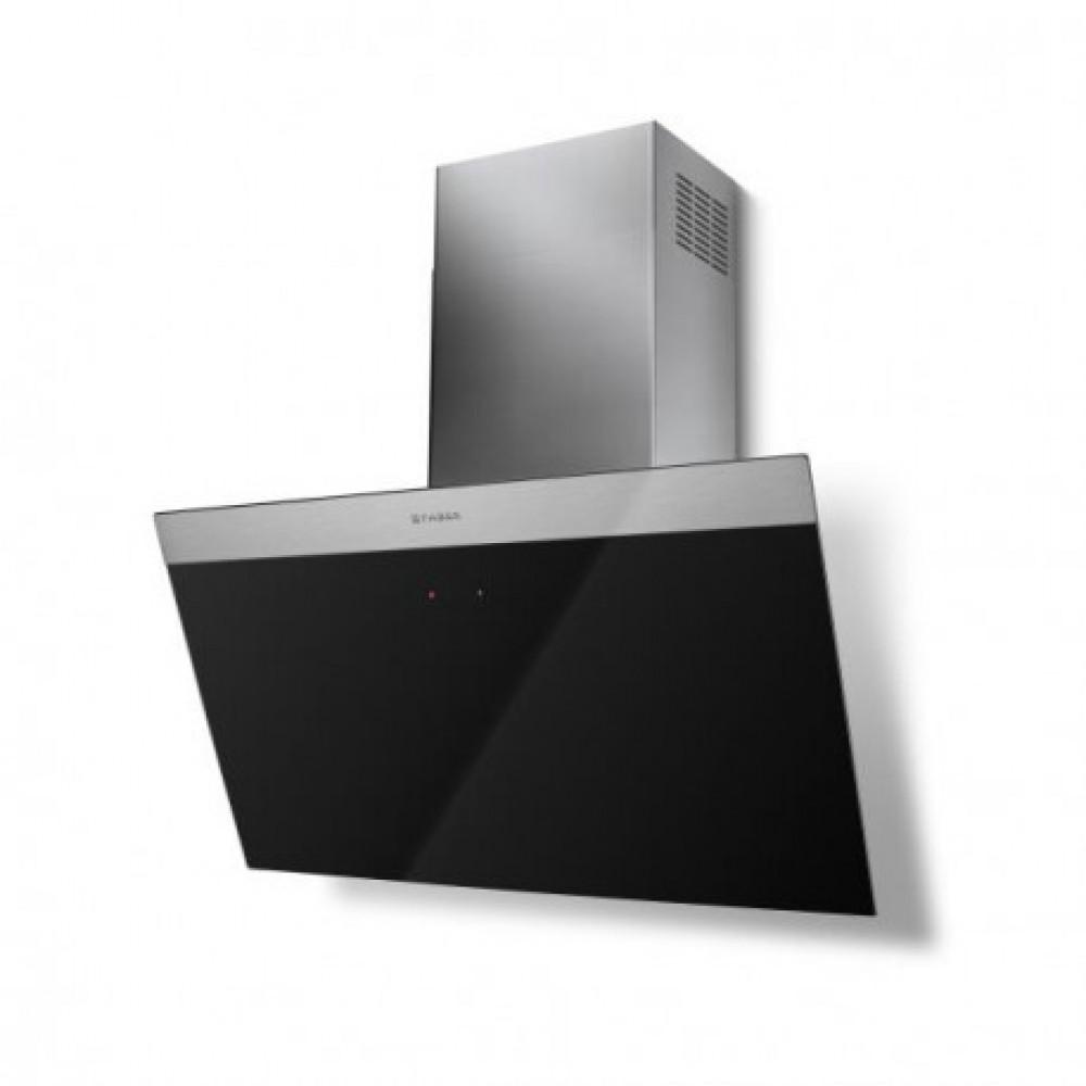 hotte murale inclin e design 80 cm noire ou blanche. Black Bedroom Furniture Sets. Home Design Ideas