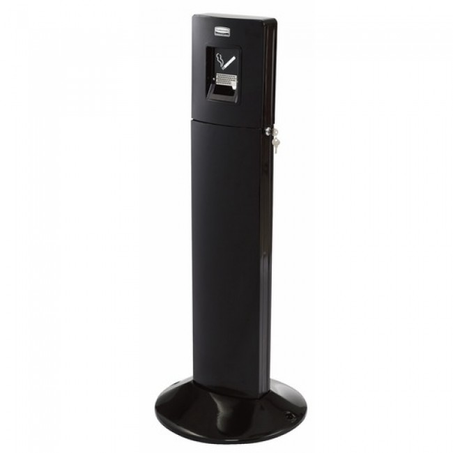 Cendrier sur pied - en aluminium - Metropolitan Smokers Station RUBBERMAID