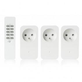 Kit 3 prises de courant - télécommande 16 canaux TRUST SMART HOME