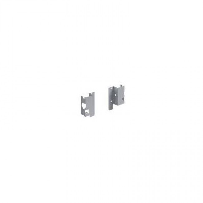 Raccords arrière pour paroi en bois/aluminium-H 54mm-argent HETTICH
