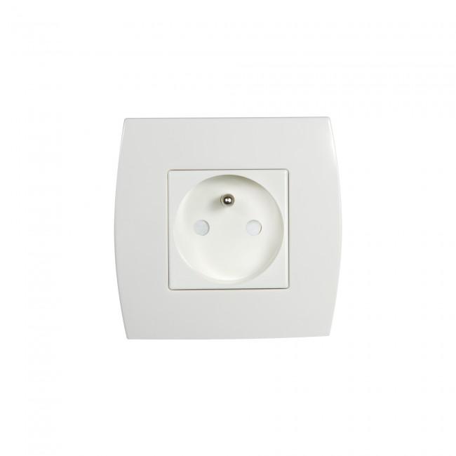 Prise de courant encastrée - 2P+T - blanc - éco DEBFLEX