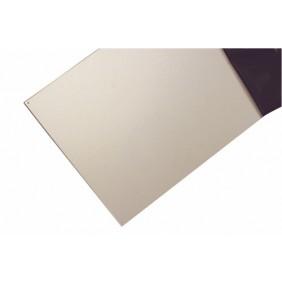 Plinthe de porte adhésive en aluminium - finition argent BILCOCQ