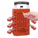 Boîte de consignation de groupe rouge, murale ou portable - 89 mm MASTER LOCK