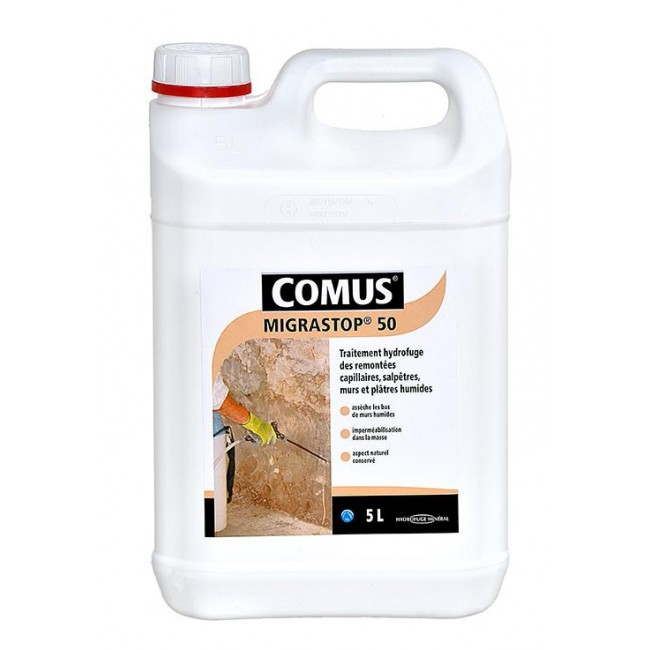 Hydrofuge minéral incolore - Migrastop® 50 COMUS