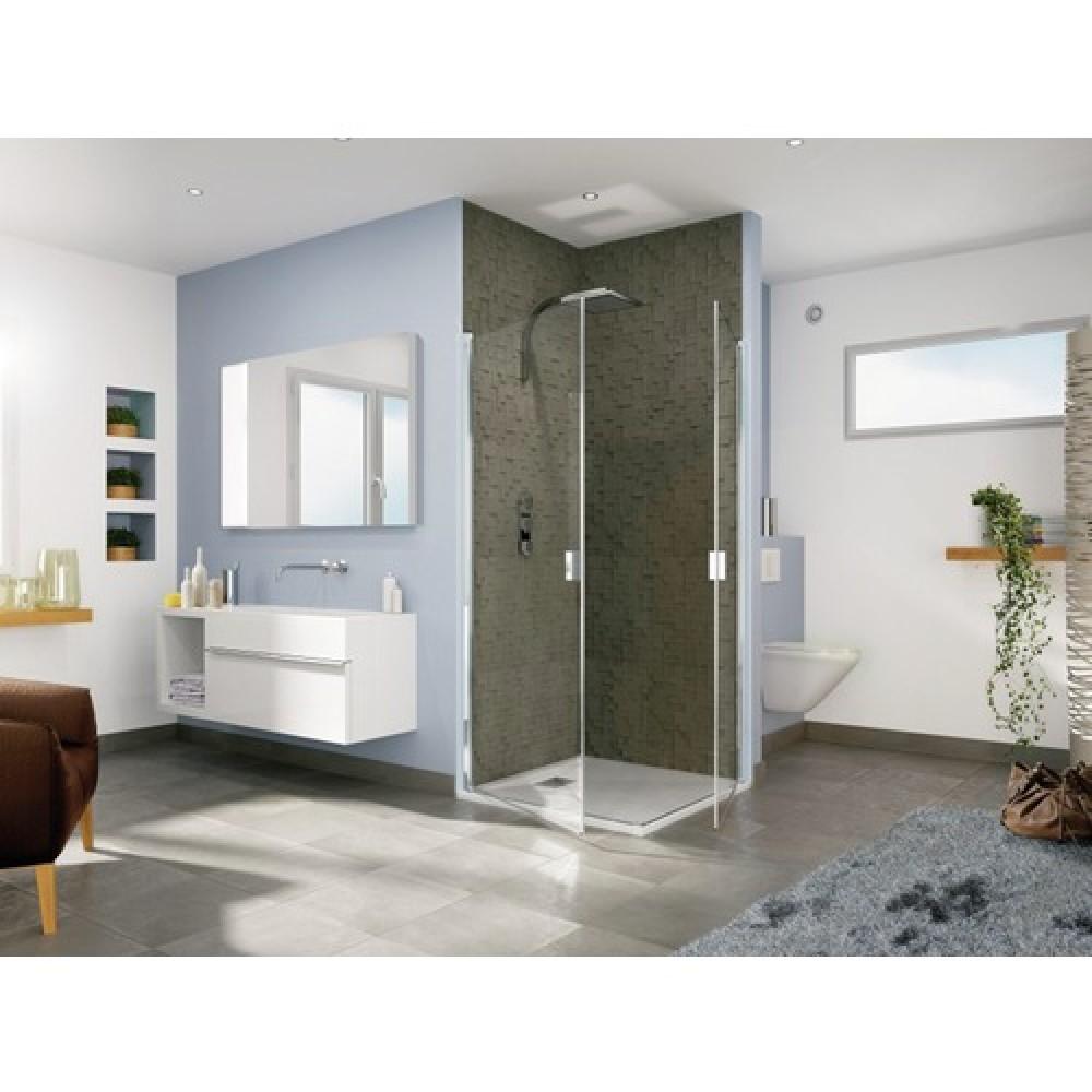 paroi de douche d 39 angle portes pivotantes smart solo p. Black Bedroom Furniture Sets. Home Design Ideas