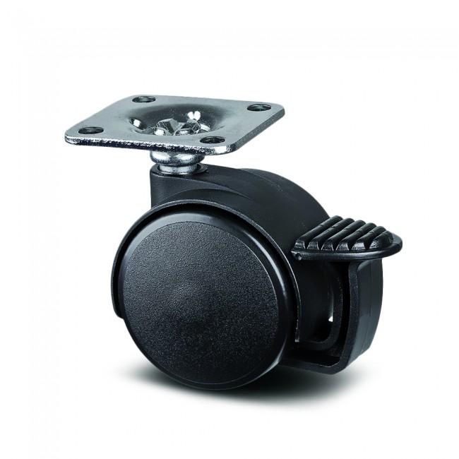 Roulette pivotante à frein - table et bureau - ø 40mm - Lumina TENTE