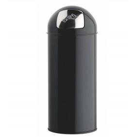 Poubelle grand volume - avec trappe inox Push - acier - 45 litres ROSSIGNOL