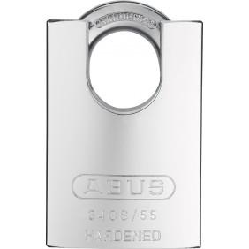 Cadenas à clé - corps en acier cémenté - anse protégée - 34CS/55 ABUS