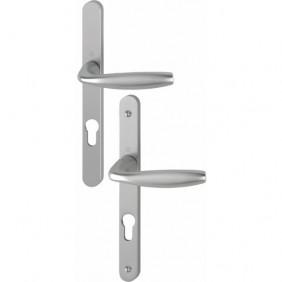 Poignées sur plaques étroites - clé I - aluminium - New York HOPPE