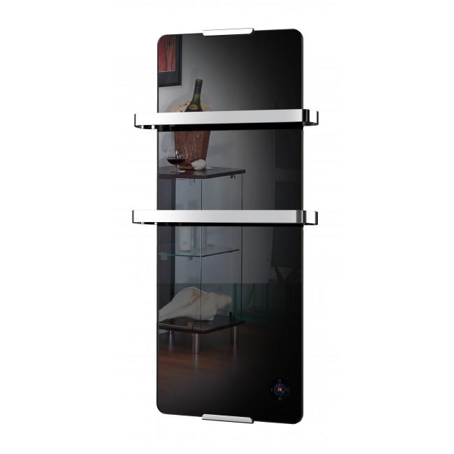Radiateur sèche serviette Noir -900 W - thermostatique et électronique CHEMIN' ARTE