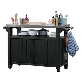 Grand buffet barbecue anthracite - 279 litres
