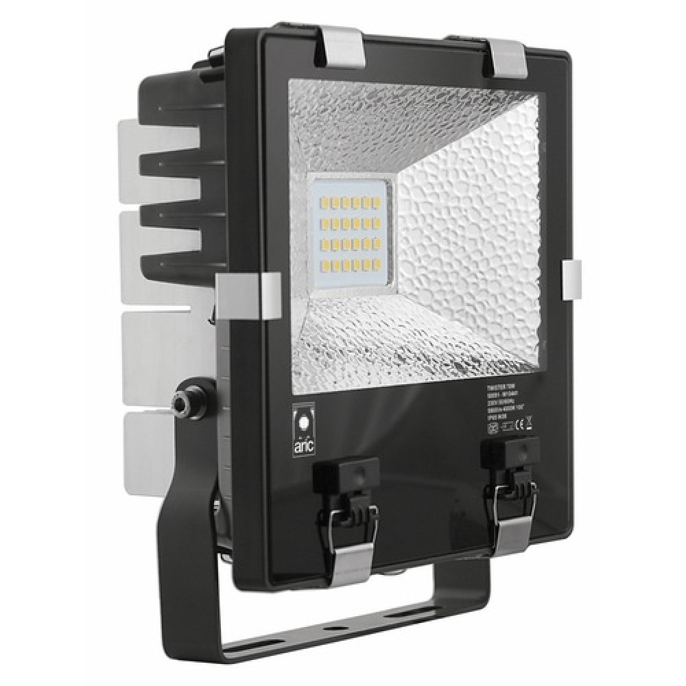projecteur led twister puissant ip65 bricozor. Black Bedroom Furniture Sets. Home Design Ideas