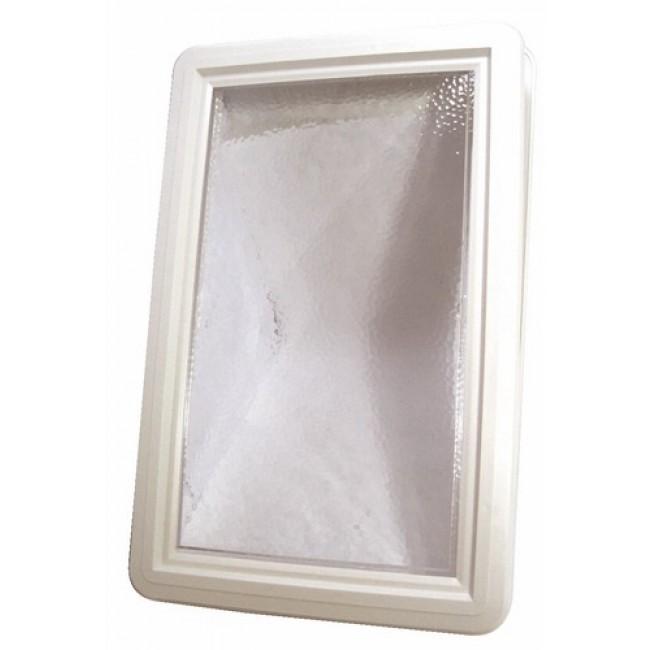 Hublot plastique rectangulaire pour porte de garage BRICOZOR