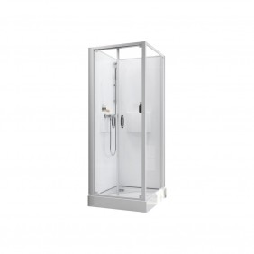 Cabine de douche - Izibox 2 - Porte battante + mitigeur thermostatique LEDA