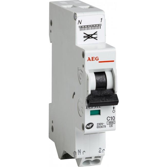 Disjoncteur automatique - PH+N - 4.5 kA - Unibis AEG