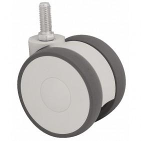 Roulette collectivité, bande polyamide, sur tige filetée, roue pivotante TENTE