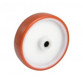Roue polyamide à bandage polyuréthane - roulement à rouleaux AVL