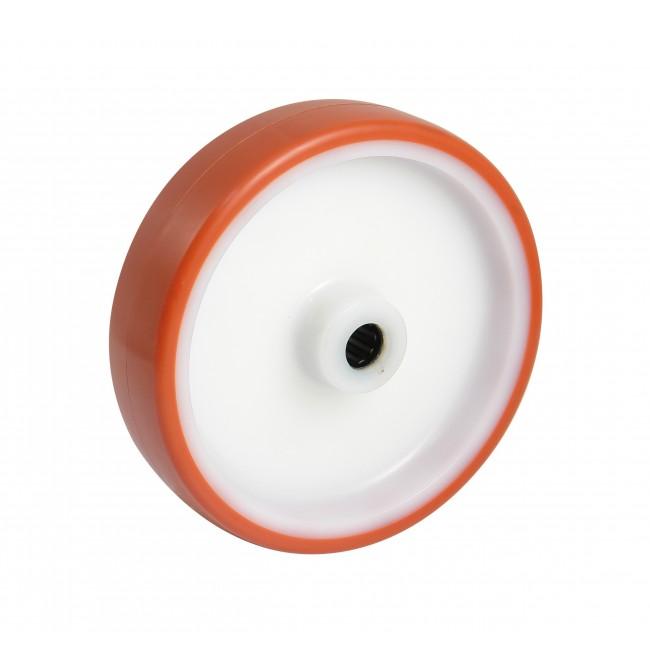 Roue polyamide à bandage polyurethane - roulement à rouleaux AVL