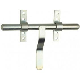 Verrou à vervelles en acier zingué avec porte-cadenas - pêne Ø16 mm TORBEL