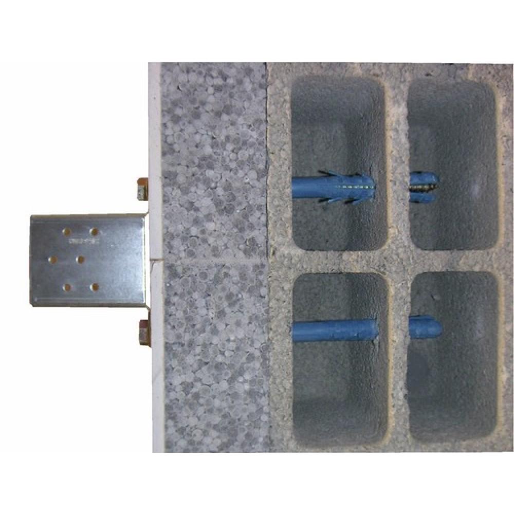 Cheville longues en nylon avec tirefond fixation lourde - Cheville brique creuse charge lourde ...