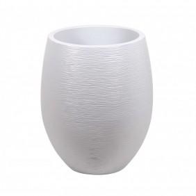 Pot rond - diamètre 50 cm - contenance 53 litres - Graphit blanc cérusé EDA PLASTIQUES
