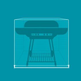Housse de protection pour chariot barbecue plancha - 165x95x110 cm VERT AZUR