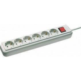 Multiprise avec interrupteur - Eco-Line - 6 prises BRENNENSTUHL