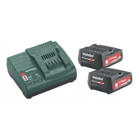 Pack batteries 12V 2Ah x2 + chargeur SC 30 METABO